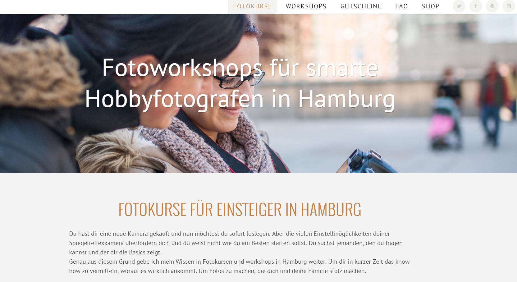Fotokurse in Hamburg